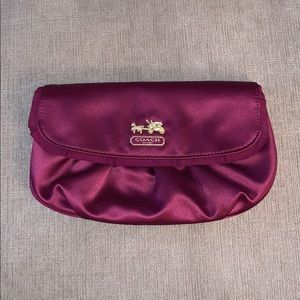 COACH Amanda Satin Clutch Wristlet w/Ribbon Trim